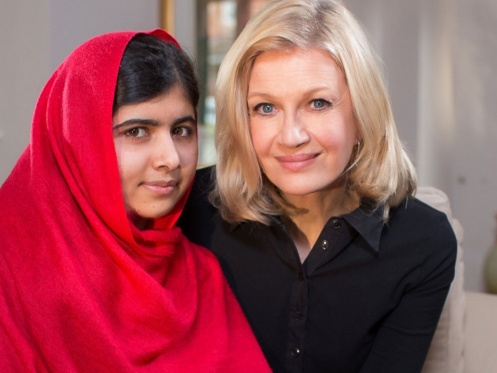 PHOTO: Diane Sawyer conducts the first television interview with Malala Yousafzai, the schoolgirl from Pakistan who was shot by the Taliban in October 2012 because she believed girls should have the right to go to school.