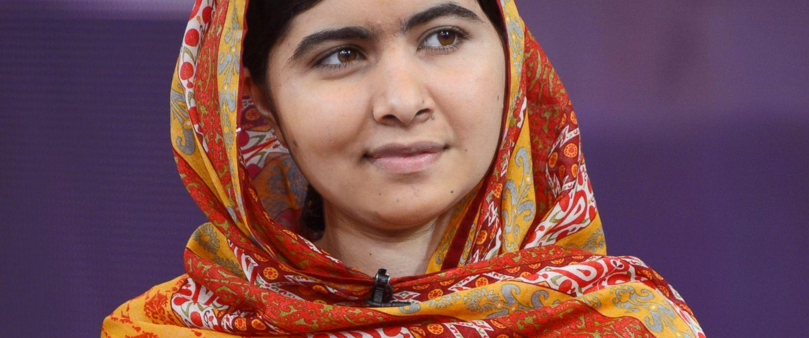 PHOTO: Pakistani teenager and education activist Malala Yousafzai talks to Amy Robach on Good Morning America, Aug. 18, 2014.