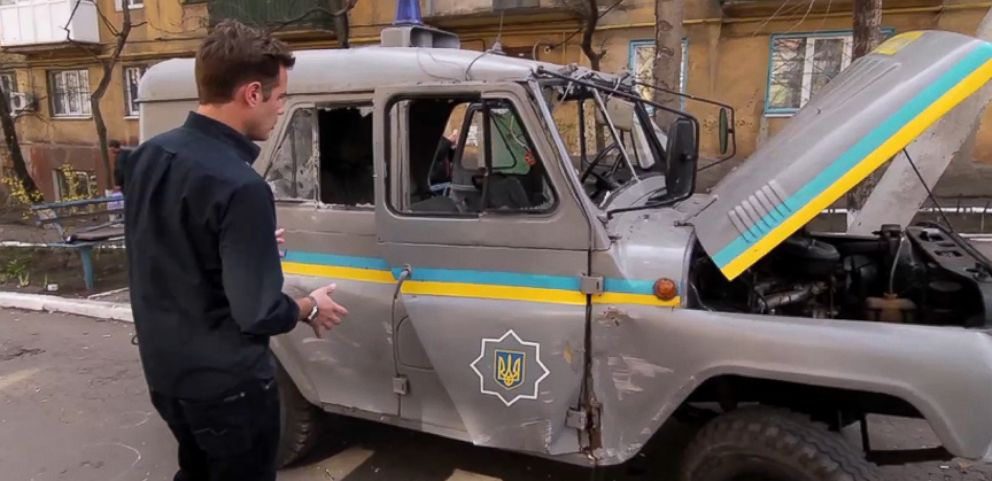 ABC News Alex Marquardt reports from Mariupol where protests turned violent.