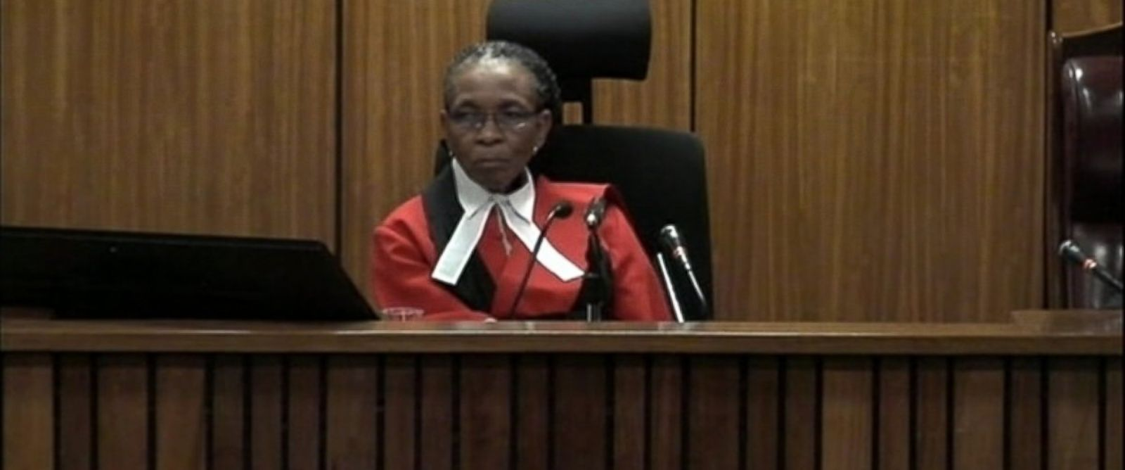 PHOTO: Judge Thokozile Masipa is seen presiding over the trial of Oscar Pistorius.