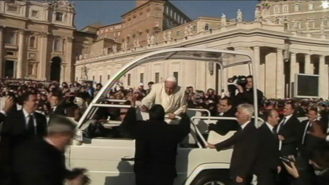 VIDEO: Pope Francis invited the Rev. Fabien Baez for a ride while driving through St. Peters Square.