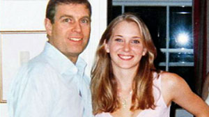 PHOTO Prince Andrew puts his arms around then 17-year-old Virginia Roberts, at the home of financier Jeffrey Epstein in 2001.