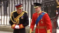 VIDEO: Prince William and Prince Harry arrive at Westminster Abbey.
