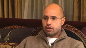 PHOTO Exclusive: Amanpour Interviews Gadhafis Son Saif Gadhafi Says Libya Is Not Americas Business