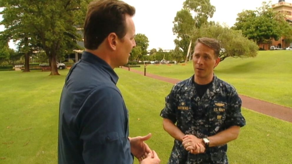 """VIDEO: U.S. Navy Capt. Mark Matthews says latest signals in the Indian Ocean come from a """"manmade device."""""""