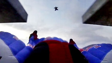 Stuntmen Fly Over Rio, Dodge Building in Wingsuits