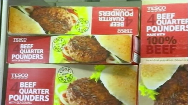 VIDEO: Samples showed that Tesco burgers contained 29 percent horsemeat.