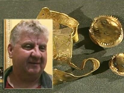 VIDEO: Terry Herbert finds buried treasure in England.