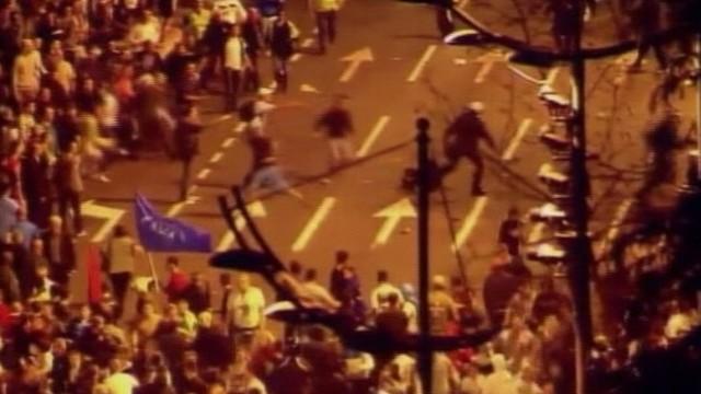 VIDEO: Serbian demonstrators demand release of war crimes suspect.