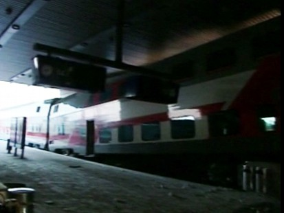 Video: Commuter train slams into a Finland hotel.