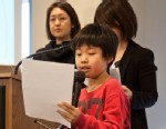 PHOTO: Yuri Tomitsuka, 10, recounts evacuating from Fukushima prefecture in Japan with his mother.