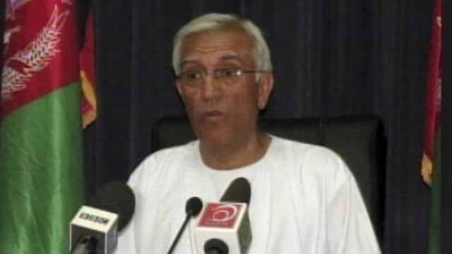 VIDEO: Kandahar mayor Ghulam Haider Hamidi was killed by a suicide bomber.