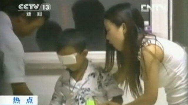 VIDEO: Chinese police say the chief suspect in the boys blinding was his aunt who committed suicide.