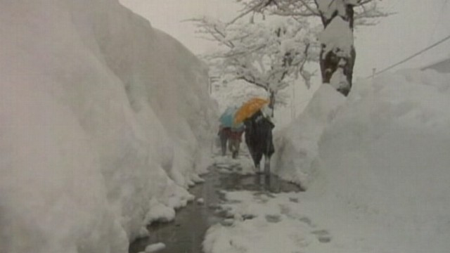 VIDEO: At least 50 people have died in worst snowfall in six years.