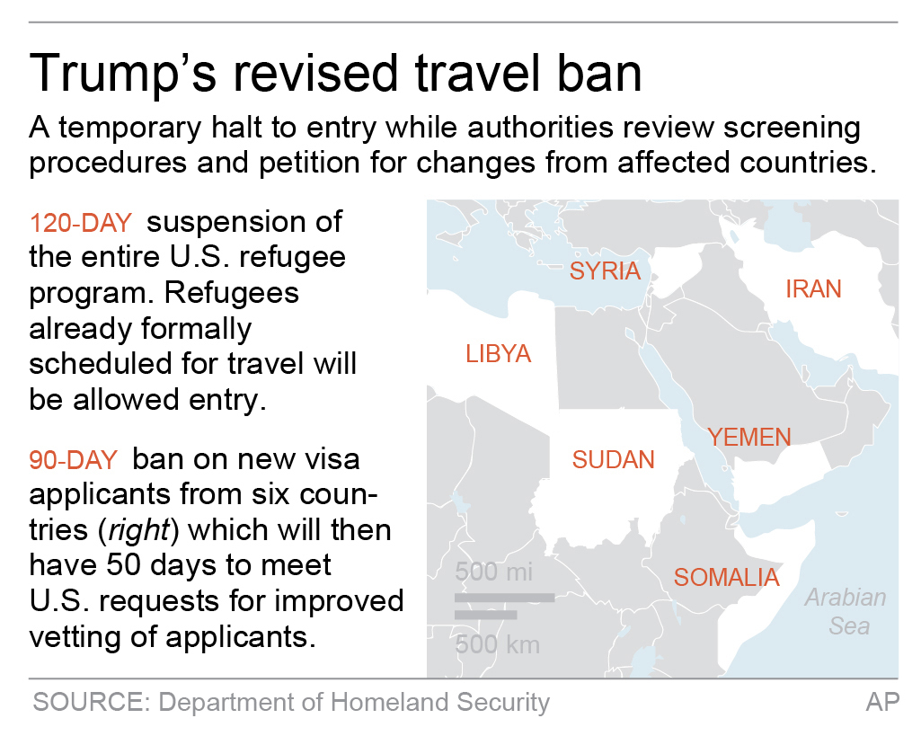 New Travel Ban Drops Iraq But Keeps 6 Other Majority Muslim Countries