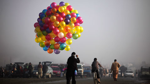 ap afghanistan balloons nt 111104 wblog Today in Pictures: Nov. 4, 2011