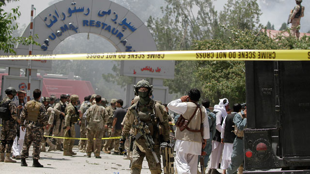 PHOTO: Security officials say Taliban insurgents have killed almost two dozen people, just north of Kabul, Afghanistan, June, 22, 2012.