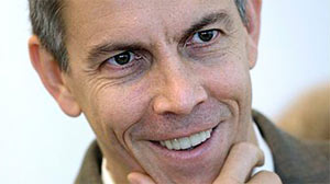 A Nov. 13, 2008 file photo shows Chicago Public Schools chief Arne Duncan smiling during a news conference in Chicago. Now, as U.S. education secretary, he has $100 billion in stimulus funds to spend on education in the next two years.