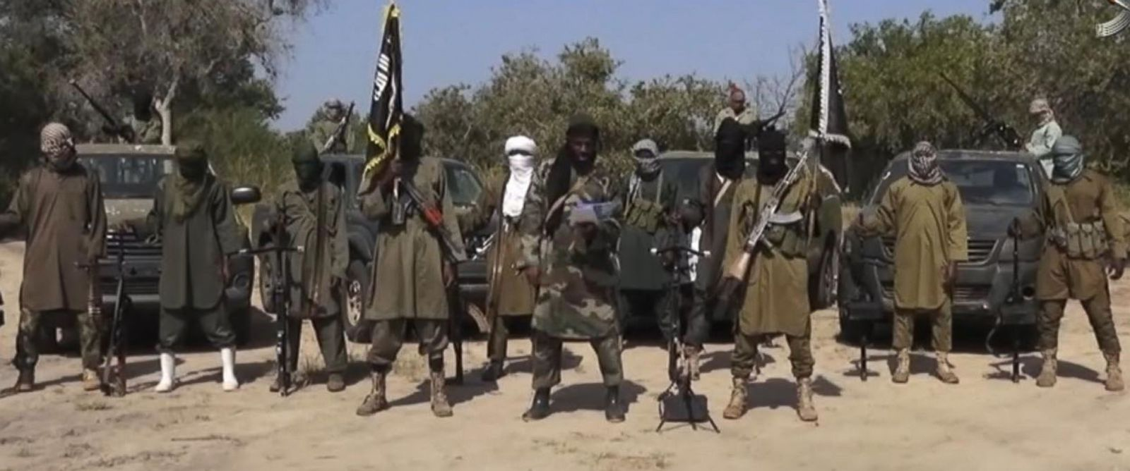 PHOTO: An image taken from video released on Oct. 31, 2014 by Boko Haram shows Abubakar Shekau, the leader of Nigerias Islamic extremist group.