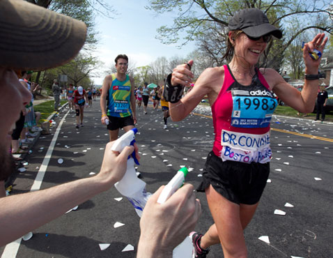 ap boston marathon nt 120417 wblog Today in Pictures: Discoverys Last Flight, Tallest Building in Japan, and the Boston Marathon