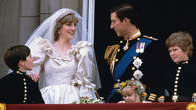 PHOTO: Prince Charles Diana, Princess of Wales, are shown on their wedding day on the balcony of Buckingham Palace in London, July 29, 1981.