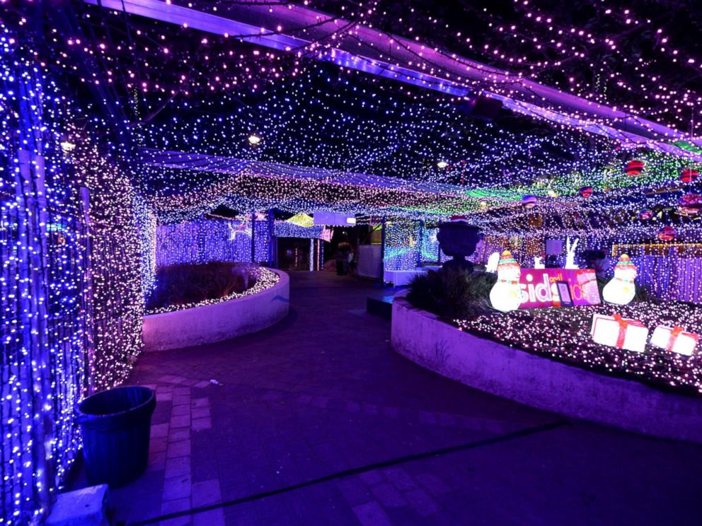 PHOTO: Lights twinkle in a mall in Canberra, Australia where David Richards has set a Guinness World Record by stringing up almost 1.2 million Christmas lights in the center of the national capital on Nov. 27, 2014.