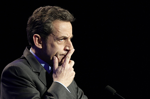ap france nicolas sarkozy ll 120330 wblog Today in Pictures: Land Day, Beach Volleyball, Glowing Refinery