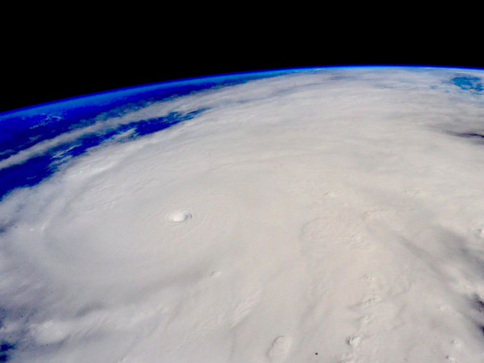 PHOTO: This image taken Oct. 23, 2015, from the International Space Station shows Hurricane Patricia, The Category 5 storm, the strongest recorded in the Western Hemisphere.