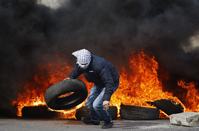 ap israel prison protest nt 130225 wblog Today in Pictures: Palestinian Protester, John Kerry, Pope Benedict XVI