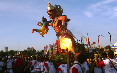 ap jakarta new year nt 120323 wblog Today in Pictures: Pope in Mexico, Turkish Riots, Nepals Living Goddess