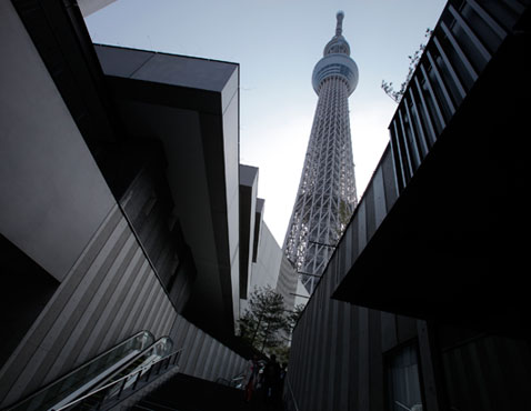 ap japan tallest building nt 120417 wblog Today in Pictures: Discoverys Last Flight, Tallest Building in Japan, and the Boston Marathon