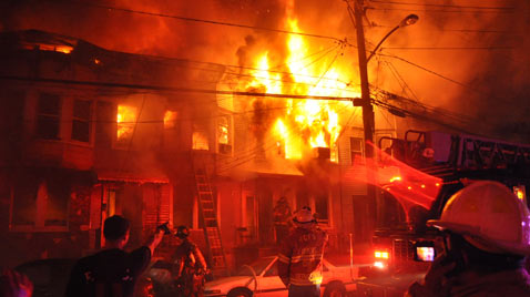 ap jersey city row home fire ss thg 120409 wblog Today in Pictures: Easter, Passover, Starch, Augusta Masters and Camels