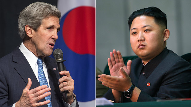 PHOTO: John Kerry and Kim Jong Un