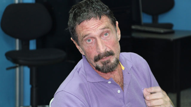 PHOTO: Software company founder John McAfee is pictured Dec. 5, 2012, in Guatemala City after being arrested for entering Guatemala illegally.
