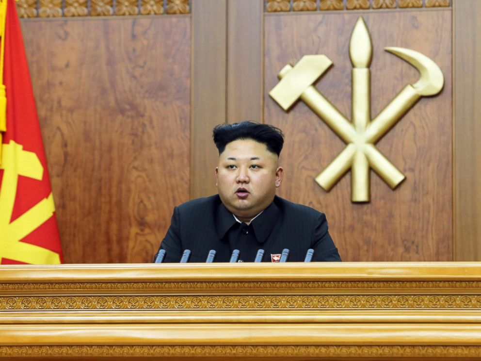PHOTO: North Korean leader Kim Jong Un is shown giving a New Years address in this photo released January 1, 2015.