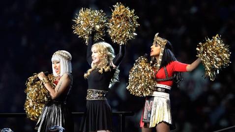 ap madonna nicki mia dm 120206 wblog Madonna Calls M.I.A.s Super Bowl Stunt Out of Place, Irrelevant