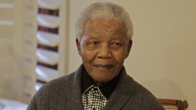 PHOTO: In this July 18, 2012 file photo, former South African President Nelson Mandela as he celebrates his birthday with family in Qunu, South Africa.