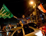 PHOTO: Palestinians celebrate the cease-fire between Hamas and Israel in Gaza City, Nov. 21, 2012.