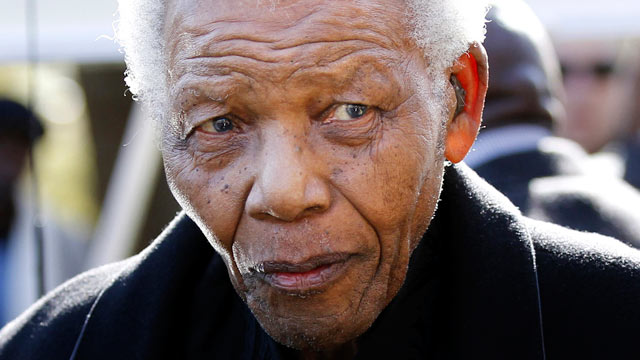 PHOTO: Former South African President, Nelson Mandela leaves a chapel in Johannesburg, South Africa, in this file photo.