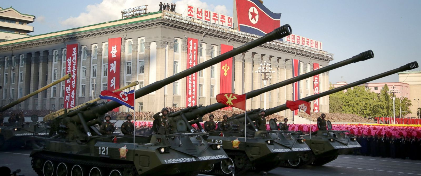 PHOTO: In this Saturday, Oct. 10, 2015, photo, missiles and rockets are paraded in Pyongyang, North Korea during the 70th anniversary celebrations of its ruling partys creation.