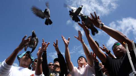 ap phillippines memorial birds thg 111123 wblog Today in Pictures: Nov. 23, 2011