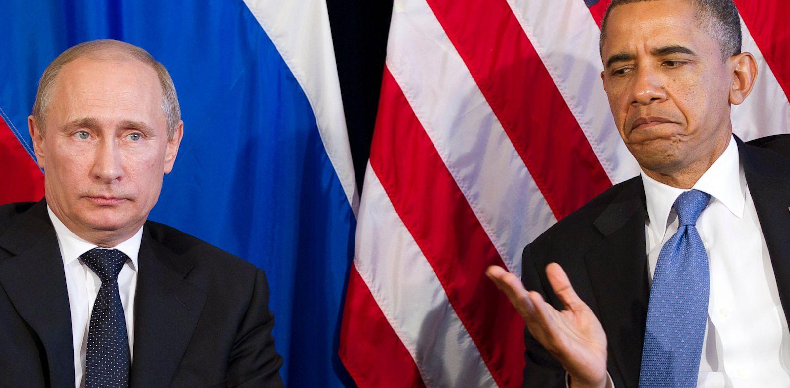 PHOTO: President Barack Obama; Russia?s President Vladimir Putin