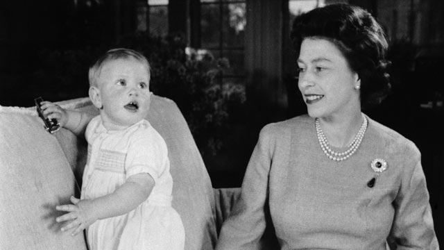 PHOTO: Queen Elizabeth II is shown with her youngest son, Prince Edward, 15 months, in a picture taken recently by Lisa Sheridan in a sitting room at Windsor Castle, Berkshire, June 11, 1965 in England.