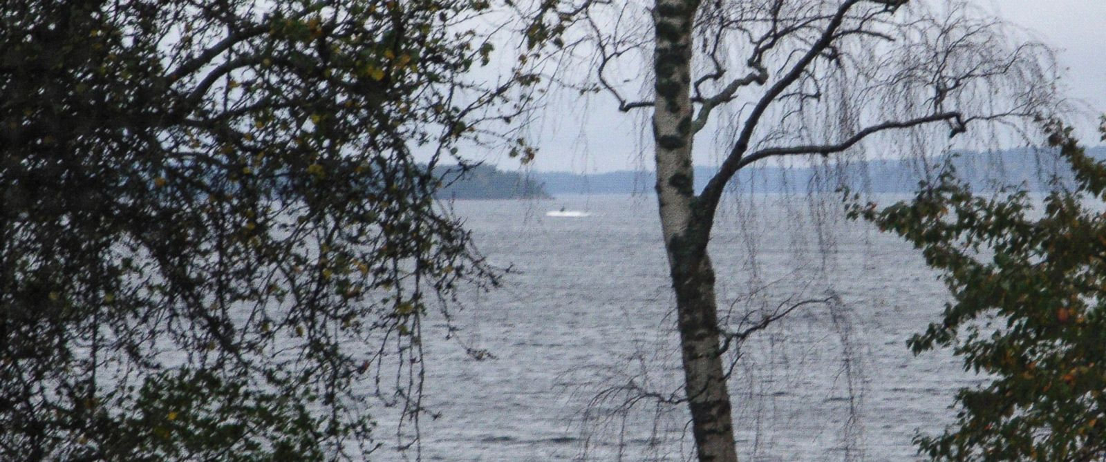 PHOTO: On Sunday, Oct. 19, 2014, a partially submerged object is visible in the water at center, in the Stockholm archipelago, Sweden.