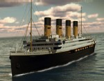 PHOTO: In this rendering provided by Blue Star Line, the Titanic II is shown cruising at sea.