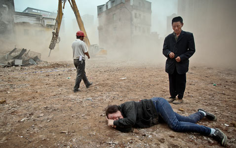 cb china village demolition nt 120322 wblog Pictures of the Day: Million Hoodie March, Nyepi Parade, Obama in New Mexico