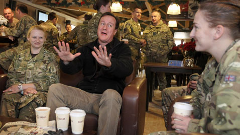 gthy david cameron troops ss thg 111220 wblog Today in Pictures: Dec. 20, 2011