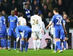 PHOTO: A ball boy lays on the ground after being kicked by Eden Hazard of Chelsea who is then sent off during the Capital One Cup Semi-Final Second Leg match between Swansea City and Chelsea at Liberty Stadium, Jan. 23, 2013 in Swansea, Wales.