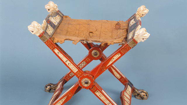 PHOTO: Folding chair of the abbess of the Nonnberg monastery from the 12th century.