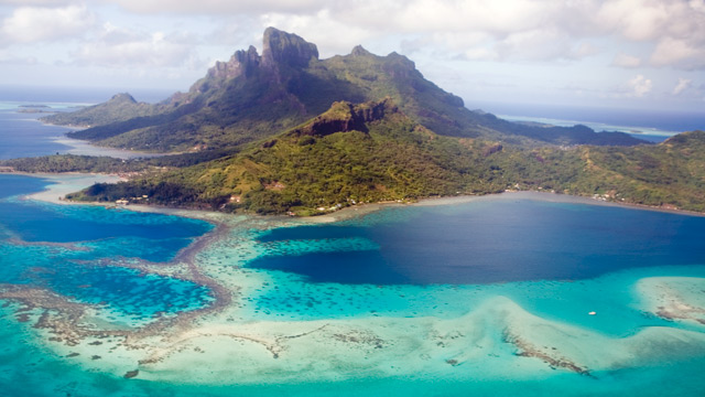 PHOTO: An aerial view of French Polynesia, Bora Bora Island.